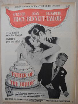 Father of the Bride (1950) - Spencer Tracey | Vintage Trade Ad